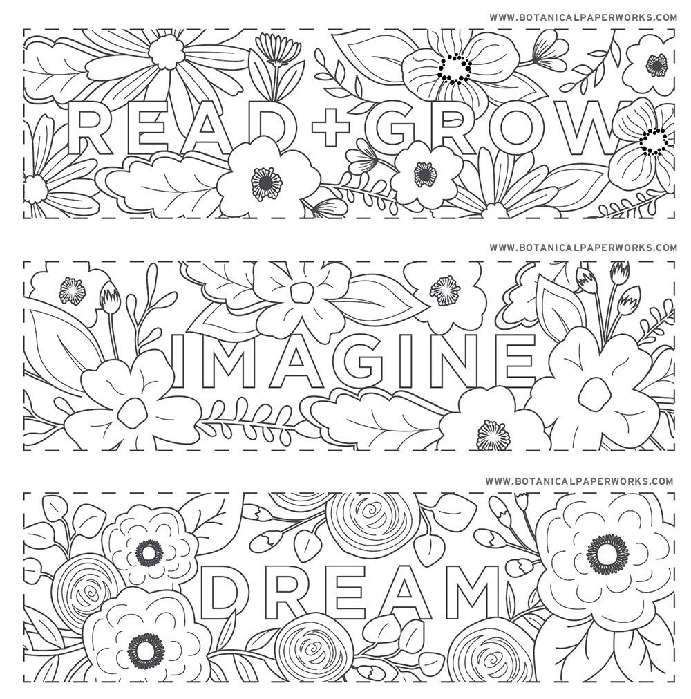 Free Printables} Read + Grow Coloring Bookmarks For Back-To-School - Free Printable Spring Bookmarks