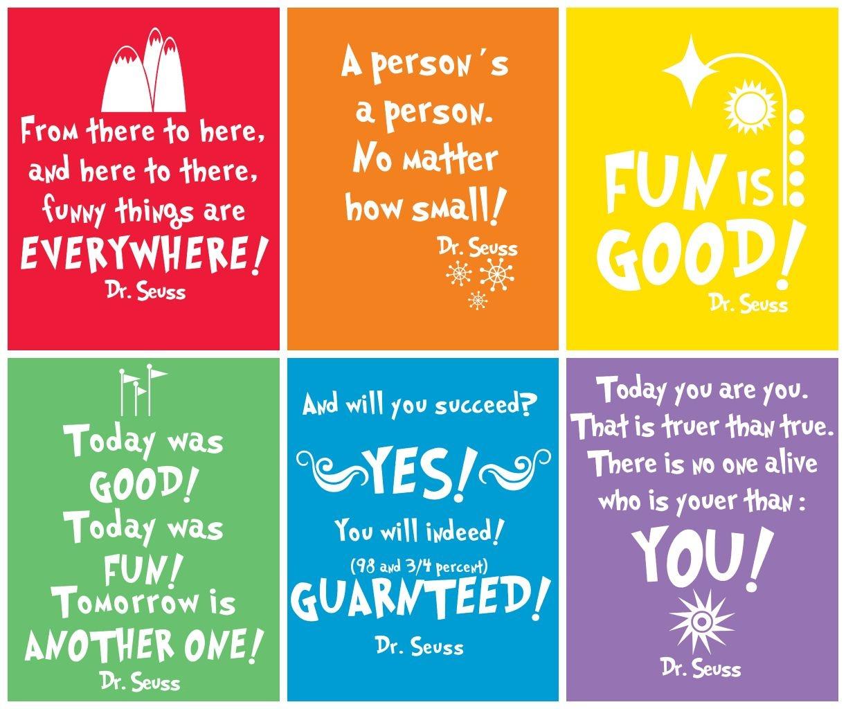 Free Prints} Dr Seuss | Craft Ideas | Dr Seuss Birthday, Dr Seuss Week - Free Printable Dr Seuss Quotes