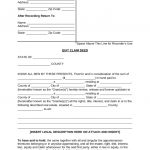 Free Quit Claim Deed Forms   Pdf | Word | Eforms – Free Fillable Forms   Free Printable Quit Claim Deed Washington State Form