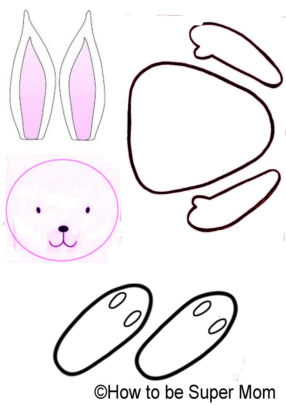 Free Rabbit Template, Download Free Clip Art, Free Clip Art On - Free Printable Bunny Templates