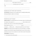 Free Rental Lease Agreement Templates   Residential & Commercial   Blank Lease Agreement Free Printable