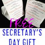 Free Secretary's Day Gift Editable Download   Hojo | End Of Year   Administrative Professionals Cards Printable Free
