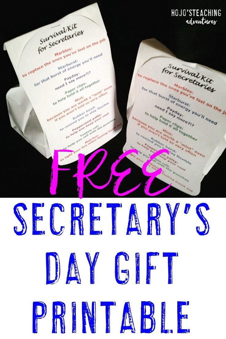 Free Secretary's Day Gift Editable Download - Hojo | End Of Year - Administrative Professionals Cards Printable Free