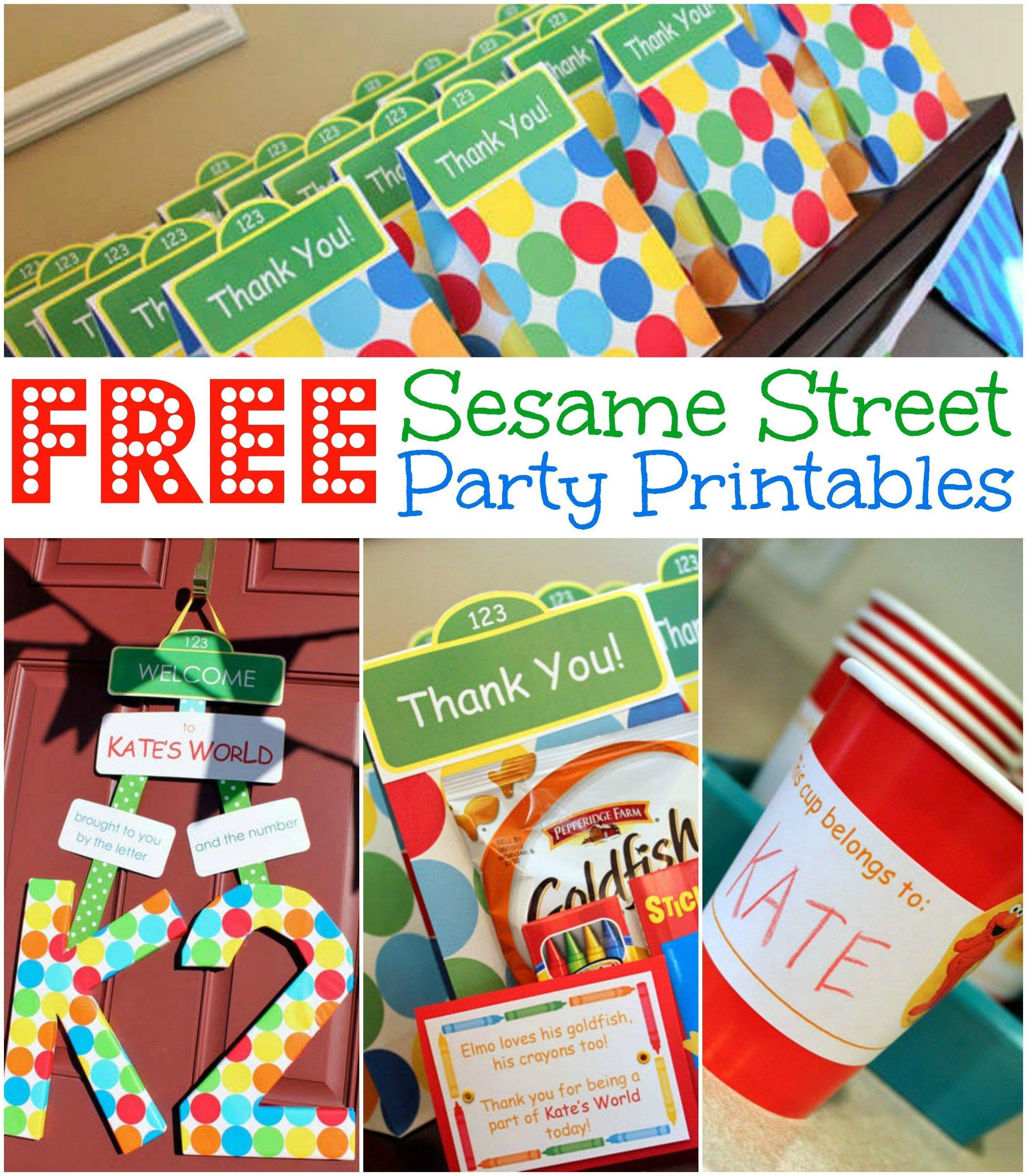 Free Sesame Street Birthday Party Printables, Free Elmo Birthday - Free Printable Sesame Street Food Labels