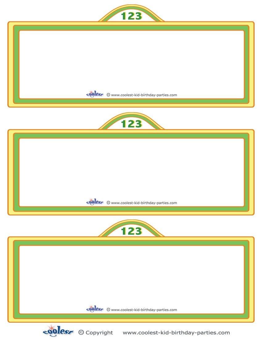 Free Sesame Street Templates |  Printable Sesame Street Sign - Free Printable Sesame Street Sign