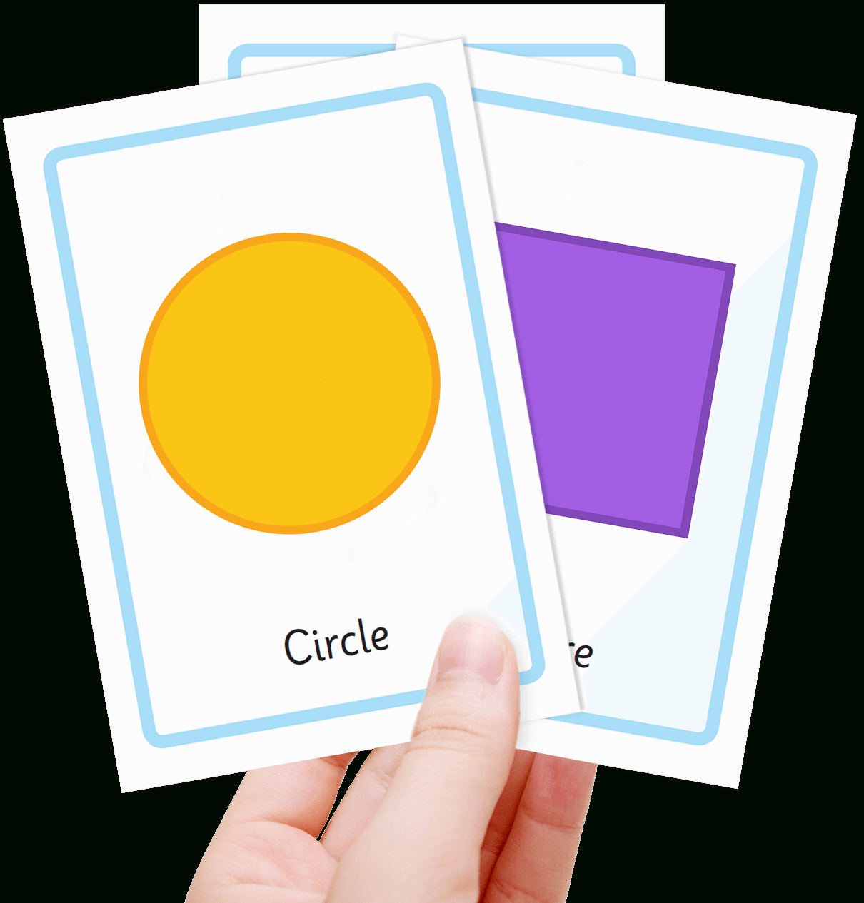 Free Shape Flashcards For Kids - Totcards - Free Printable Flashcards For Toddlers