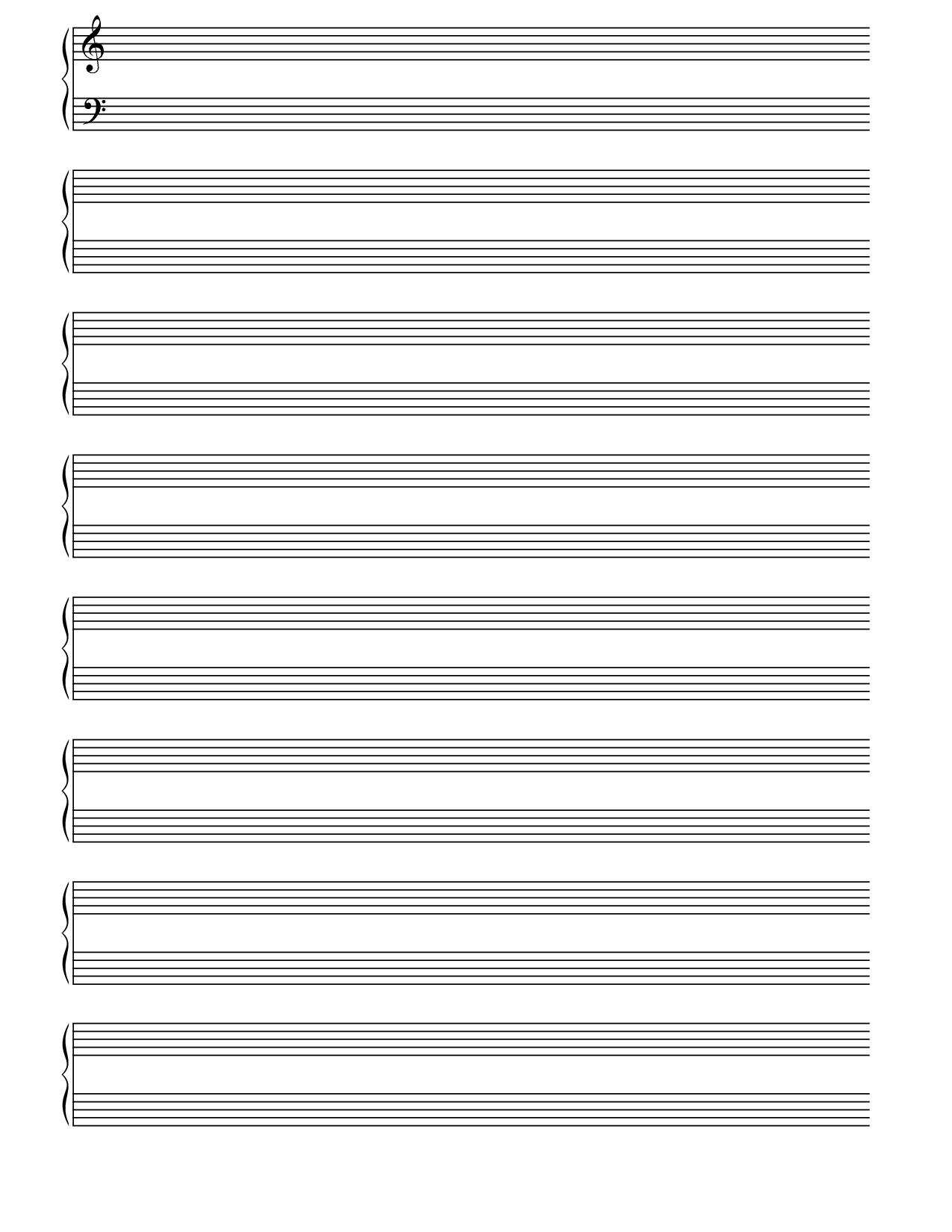 Free Sheet Music Paper - Kaza.psstech.co - Free Printable Music Staff