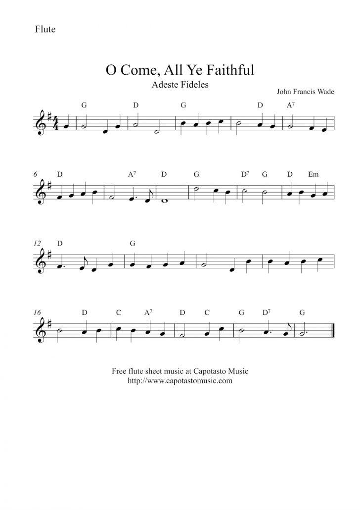 Free Printable Flute Music