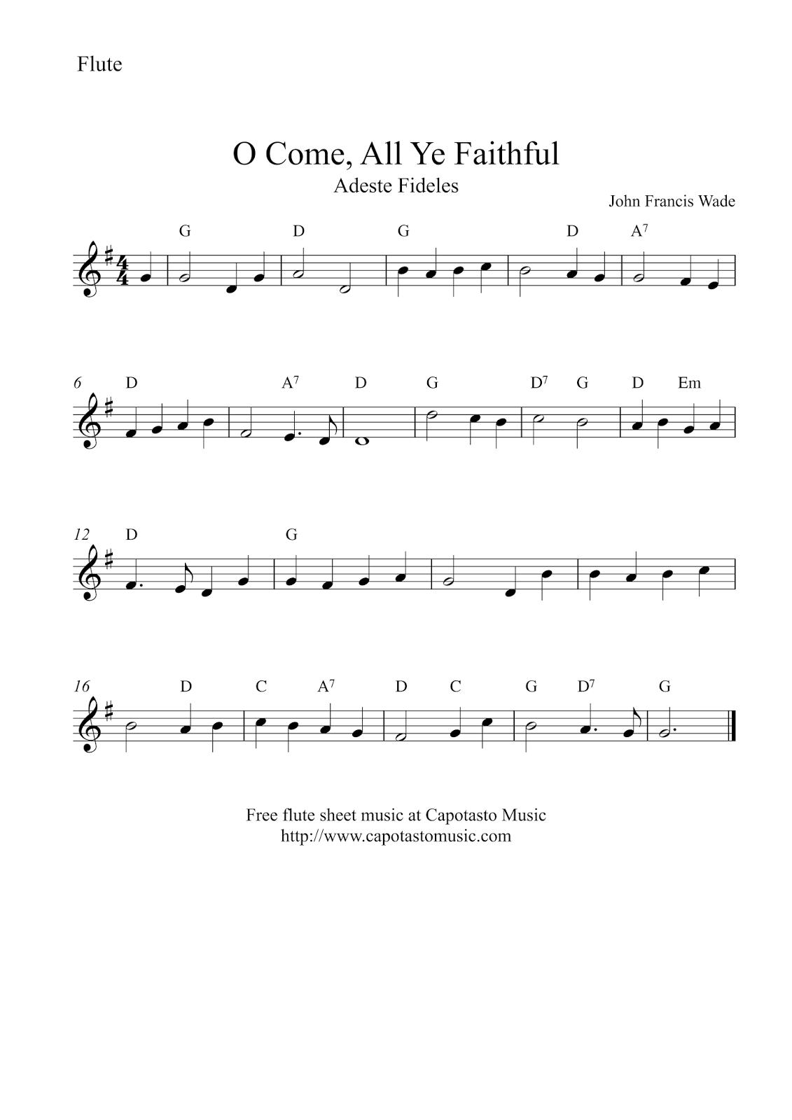 Free Sheet Music Scores: Flute Christmas | Music | Free Sheet Music - Free Printable Flute Music