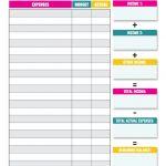 Free Simple Household Budget Worksheet Pdf Y Monthly | Smorad   Free Printable Monthly Household Budget Sheet