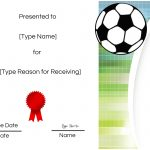 Free Soccer Certificate Maker | Edit Online And Print At Home   Free Printable Soccer Certificate Templates