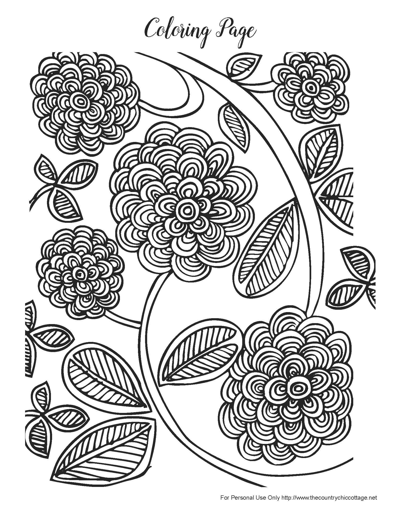Free Spring Coloring Pages For Adults | Products I Love | Spring - Free Printable Spring Coloring Pages For Adults