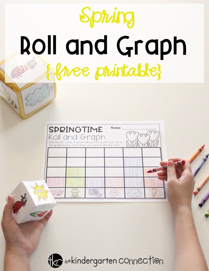 Free Spring Roll And Graph Math Activity For Preschool And Kindergarten - Free Printable Graphs For Kindergarten