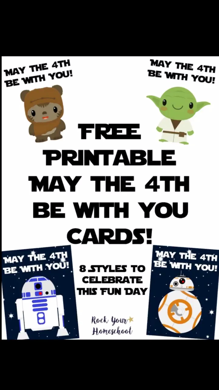 Free Star Wars Cards For May The 4Th Be With You | May The Force Be - May The Force Be With You Free Printable