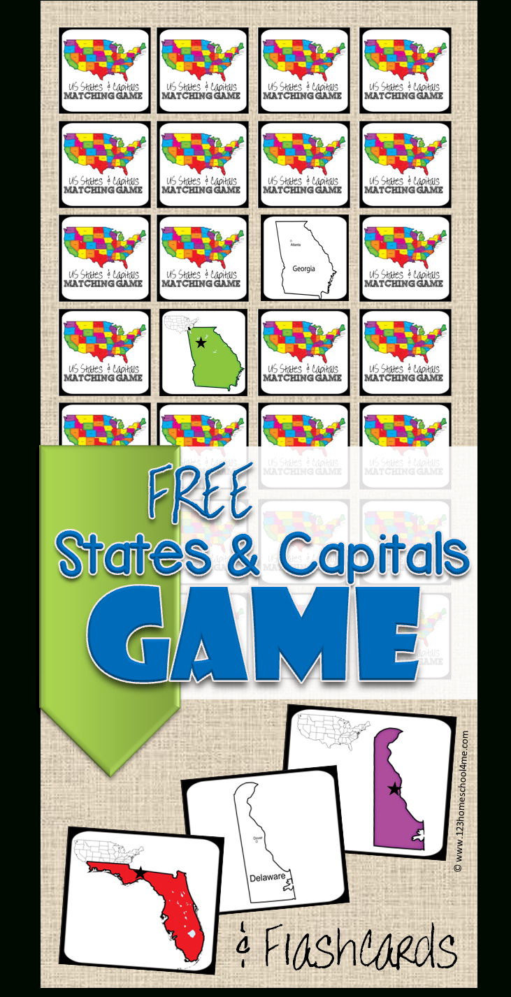 Free State Capitals Game | 123 Homeschool 4 Me - Free Printable Matching Cards