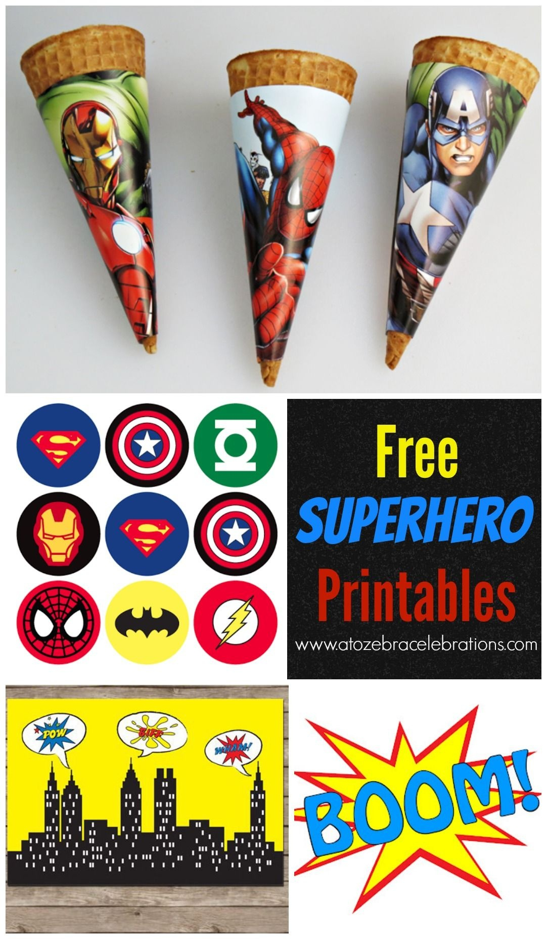 Free #superhero Party Printables | Superhelden | Pinterest - Free Printable Superhero Pictures