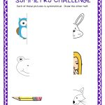 Free Symmetry Challenge Sheet | Cc Art | Art Lessons Elementary   Free Printable Bell Ringers
