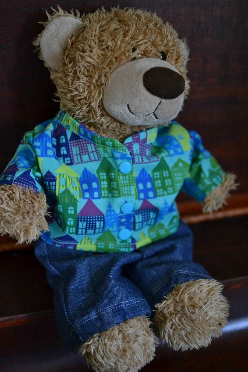 Free Teddy Bear Jacket Pattern For 16In. Bears   Sewing Tutorials - Free Printable Teddy Bear Clothes Patterns