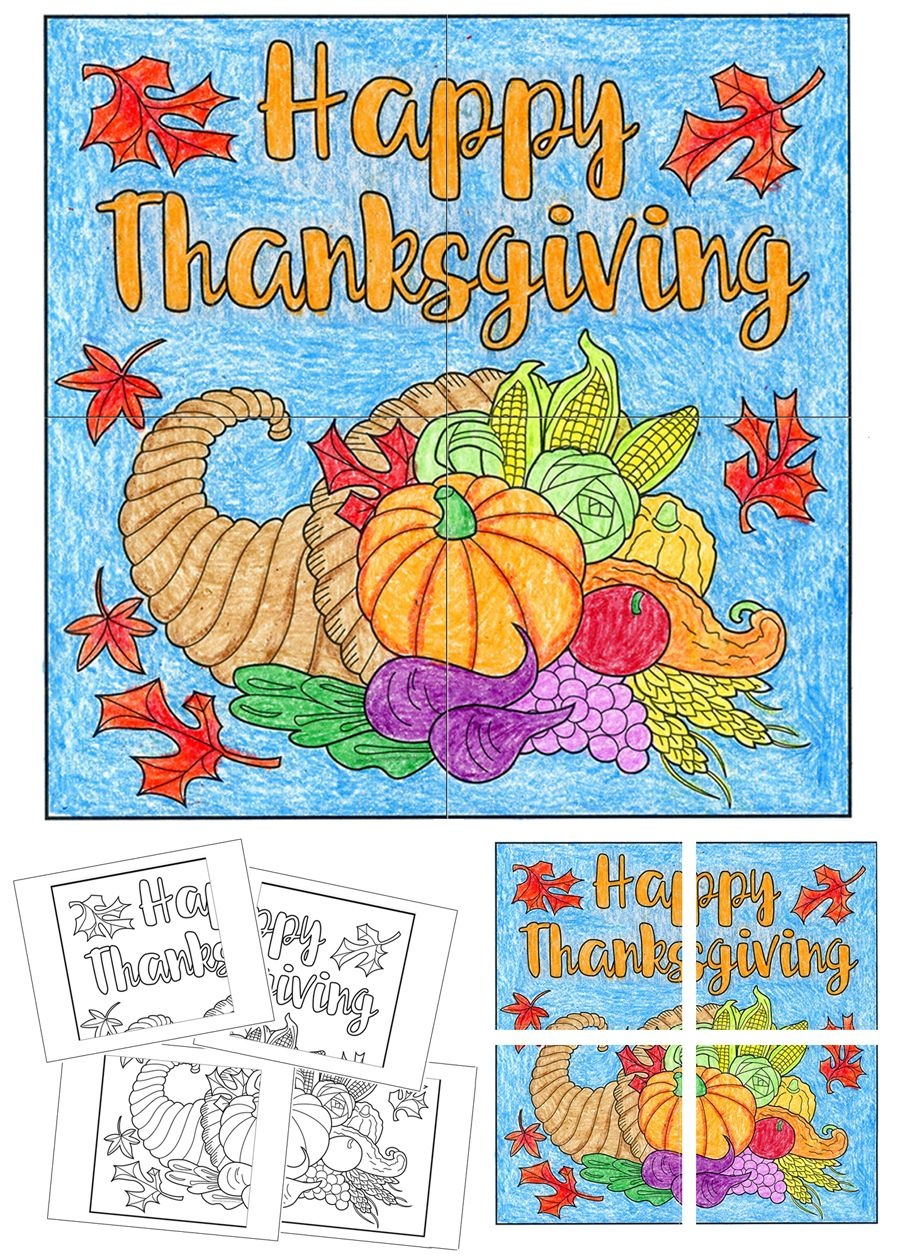 Free Thanksgiving Mural | Apfk Thanksgiving | Free Thanksgiving - Free Printable Murals