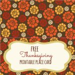 Free Thanksgiving Printables   Frugal Fanatic   Free Printable Thanksgiving Place Cards