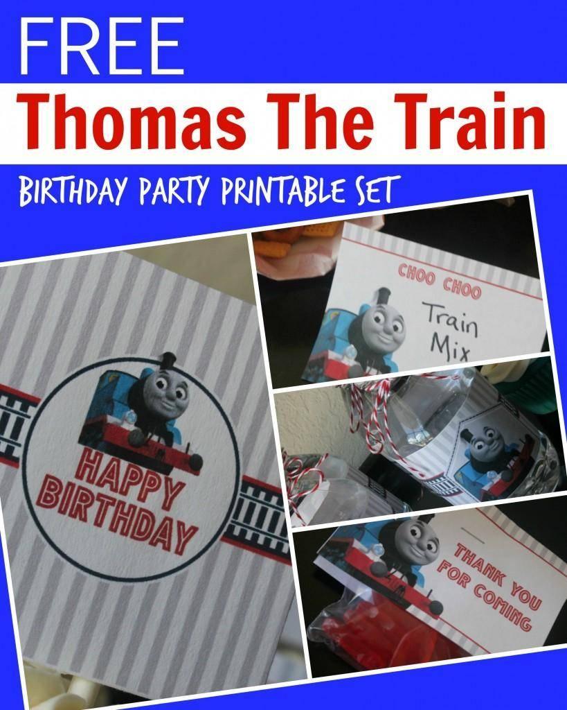 Free Thomas The Train Engine Birthday Party Printables - Passion For - Free Printable Thomas The Train Cupcake Toppers