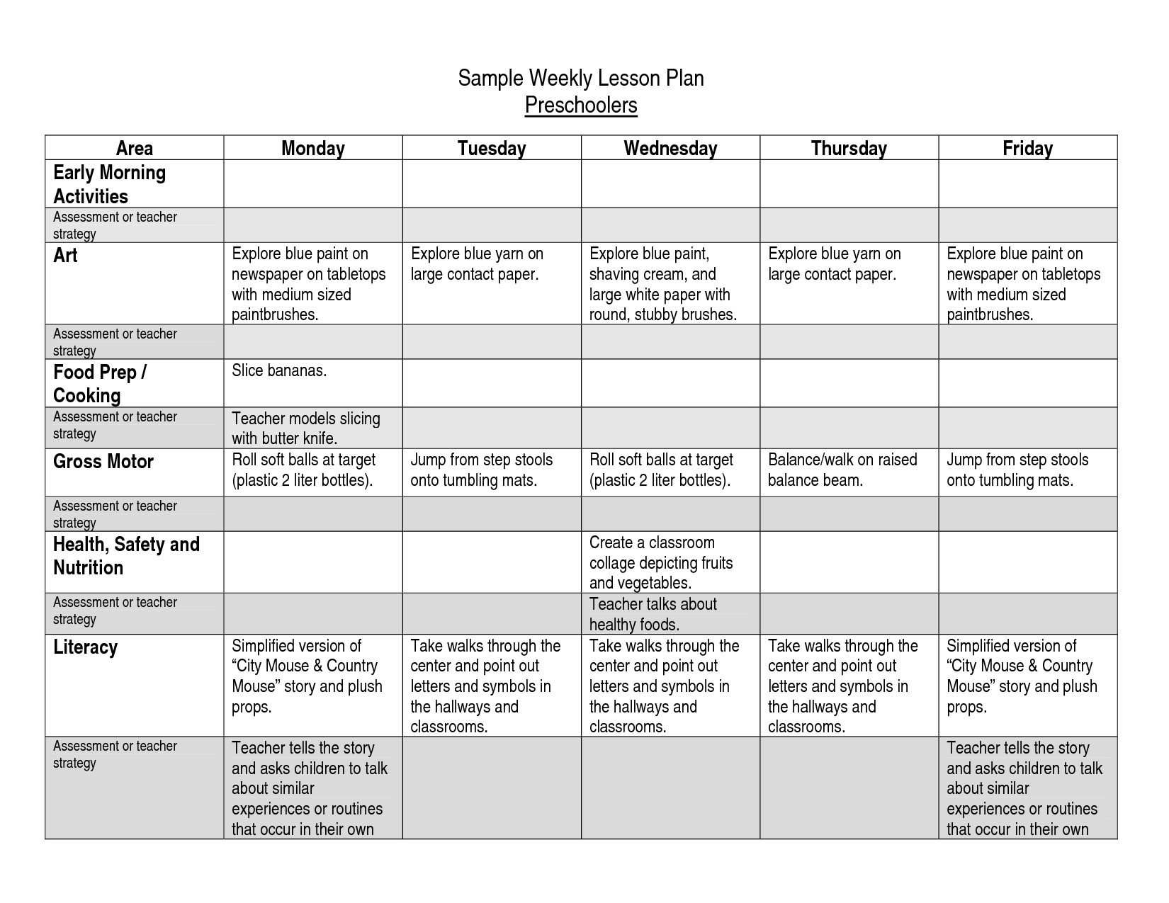 Free Toddlers Lesson Plan Templates Toddler Plans For September - Free Printable Lesson Plans For Toddlers