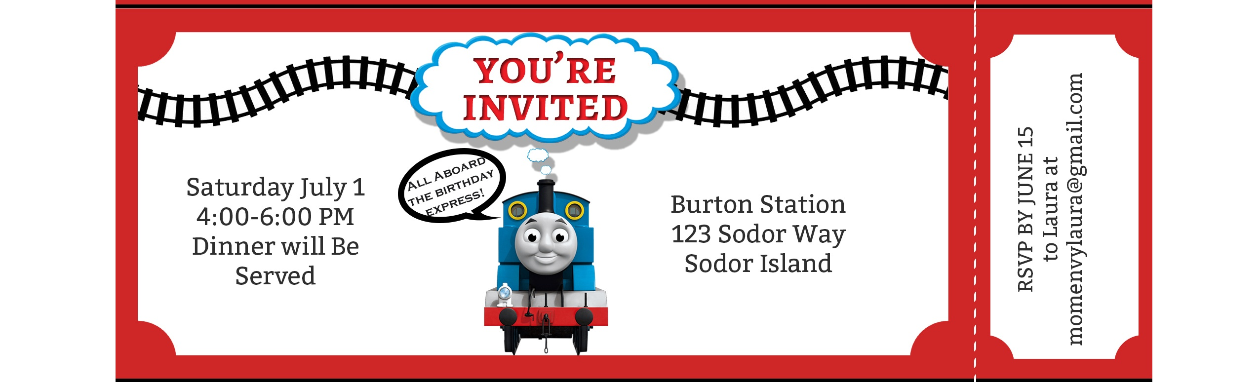 Free Train Party Printables - Free Thomas The Tank Engine Party Pack - Thomas Invitations Printable Free