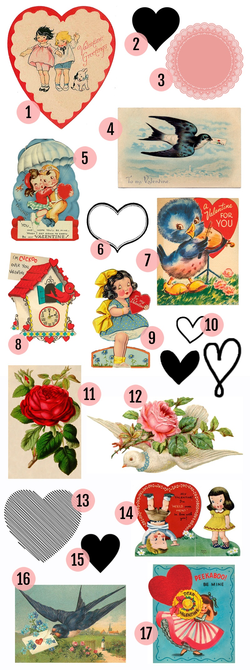 Free Valentine's Day Printable & Vintage Clip Art » Maggie Holmes Design - Free Printable Vintage Valentine Pictures