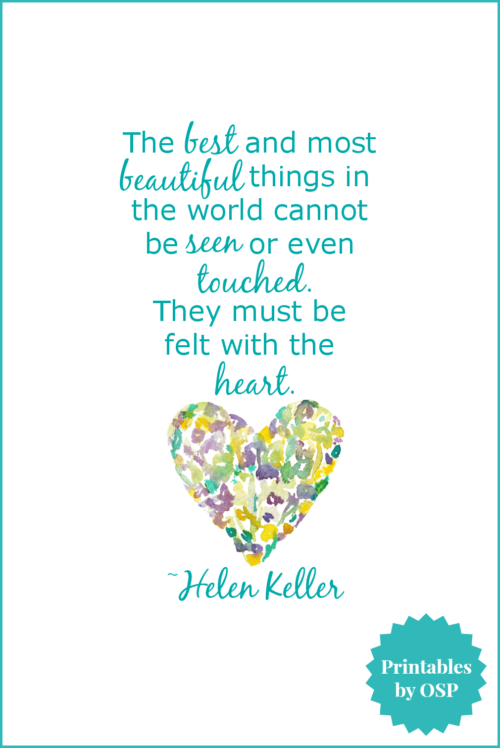 Free Valentine's Day Printables: Love & Hearts   Crafty   Heart - Free Printable Pictures Of Helen Keller