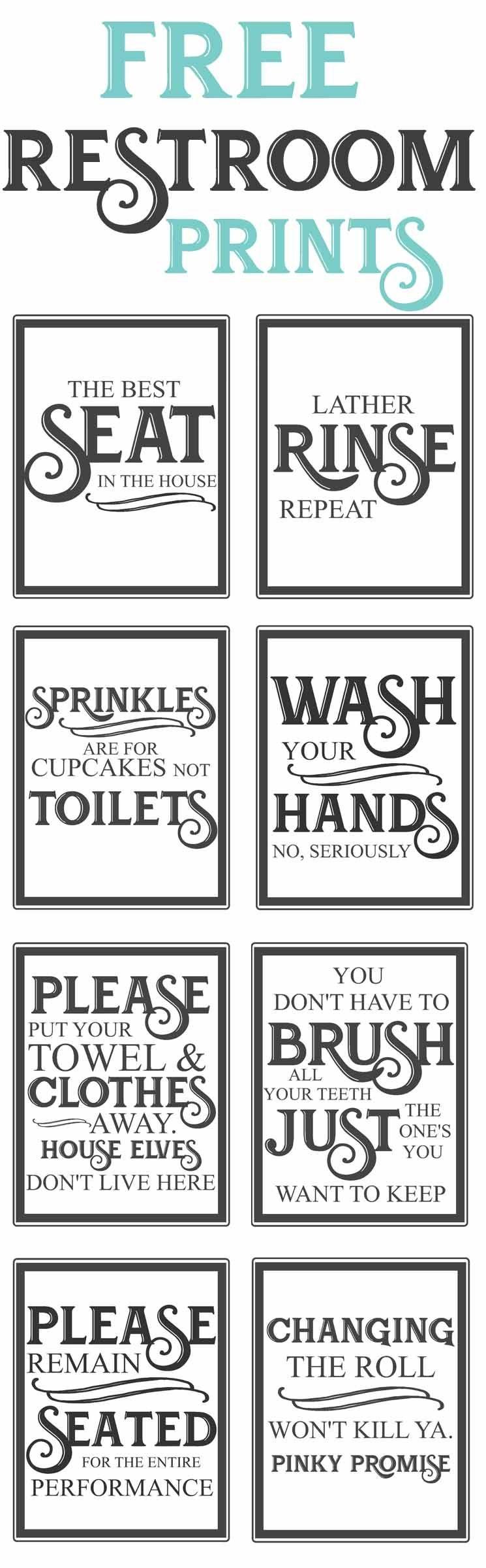 Free Vintage Bathroom Printables   Diy   Vintage Bathrooms, Diy Home - Free Printable Funny Posters