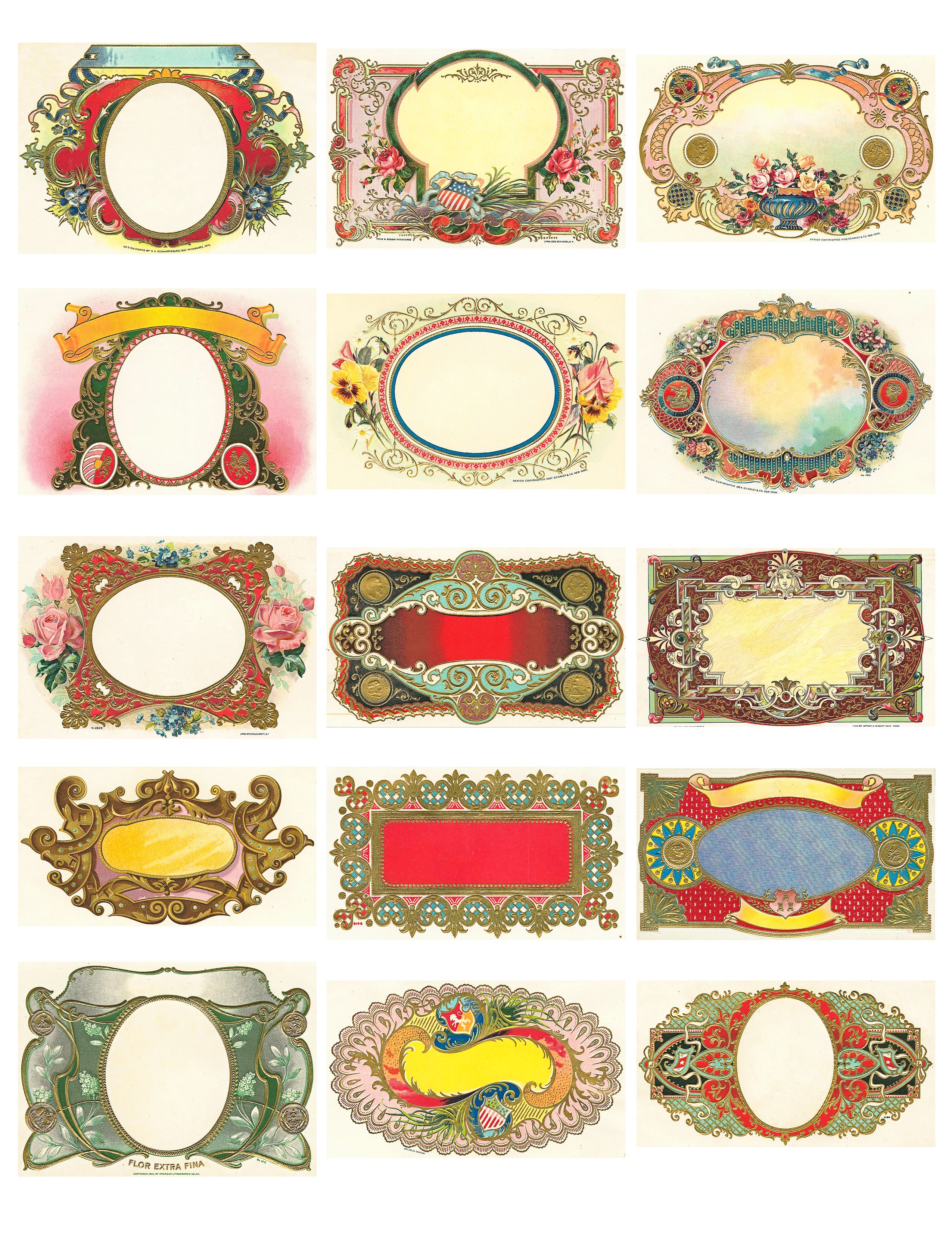 Free Vintage Labels Graphics Collage Sheet   Inspiring Ideas - Free Printable Old Fashioned Labels