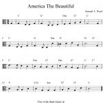 Free Viola Sheet Music, America The Beautiful | Viola Sheet Music In   Viola Sheet Music Free Printable