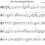 Free Viola Sheet Music, The Star Spangled Banner   Viola Sheet Music Free Printable