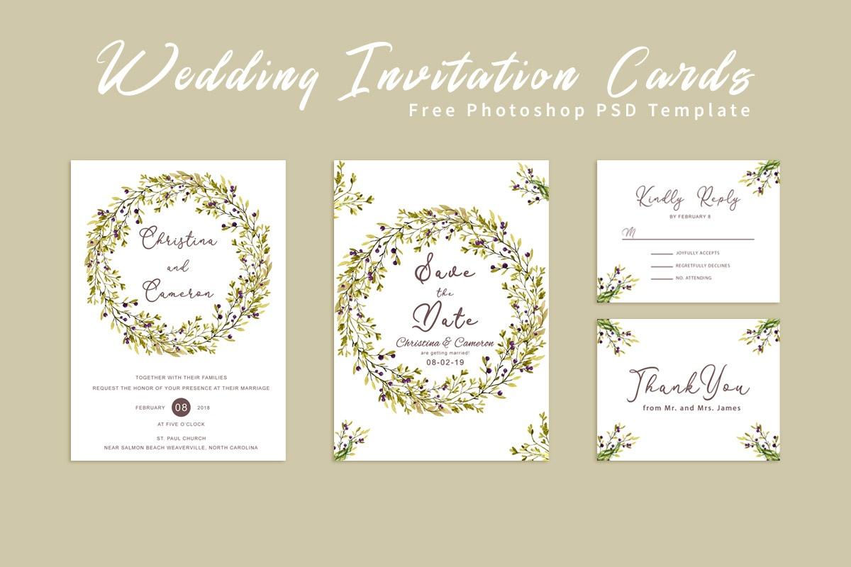 Free Wedding Invitation Card Template - Creativetacos - Wedding Invitation Cards Printable Free