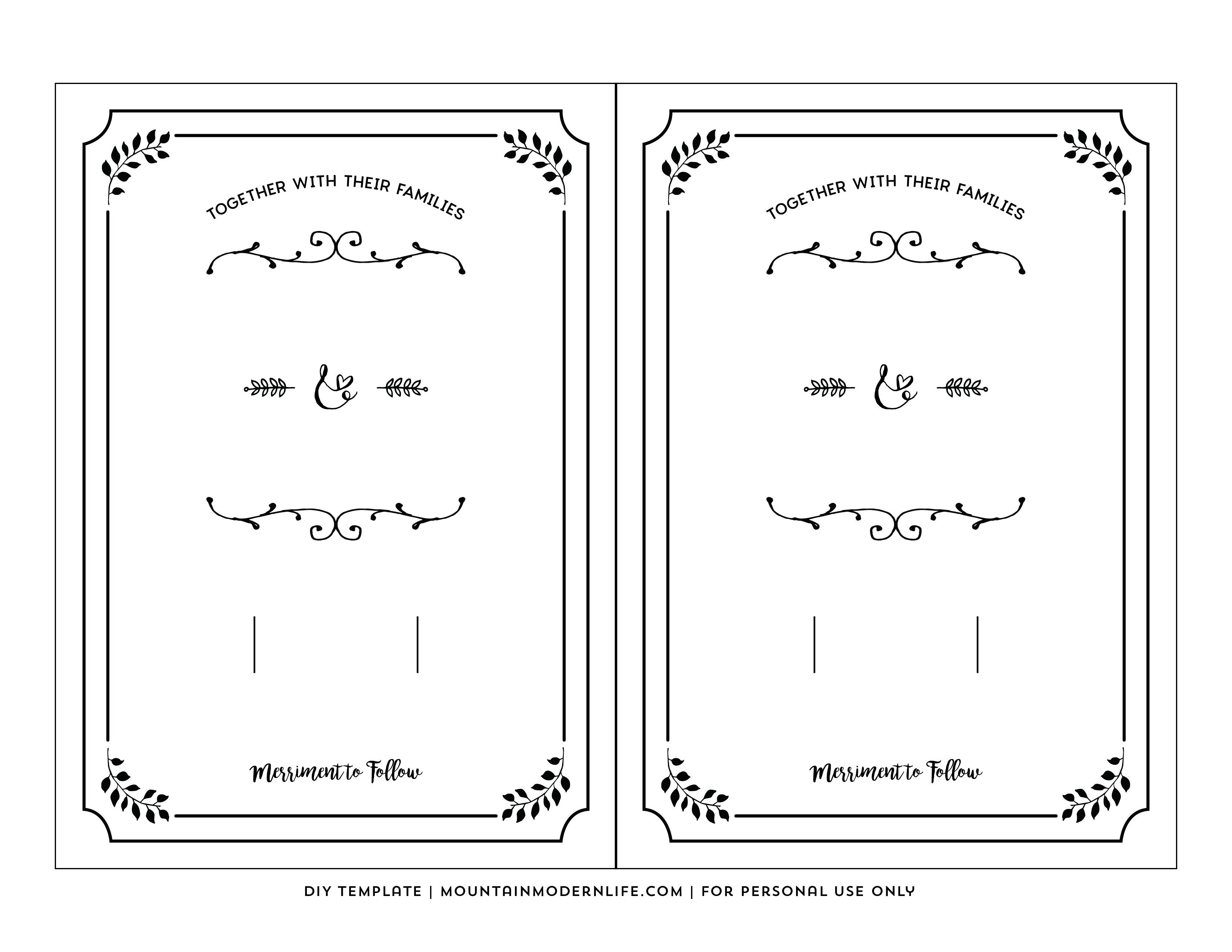 Free Wedding Invitation Printable Templates Free Printable Wedding - Free Printable Wedding Invitation Templates