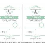 Free Wedding Invitation Template | Mountainmodernlife   Free Printable Wedding Invitation Templates