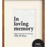 Free Wedding Memorial Signs + 5 Remembrance Ideas | Wedding Signs   Free Printable Wedding Signs
