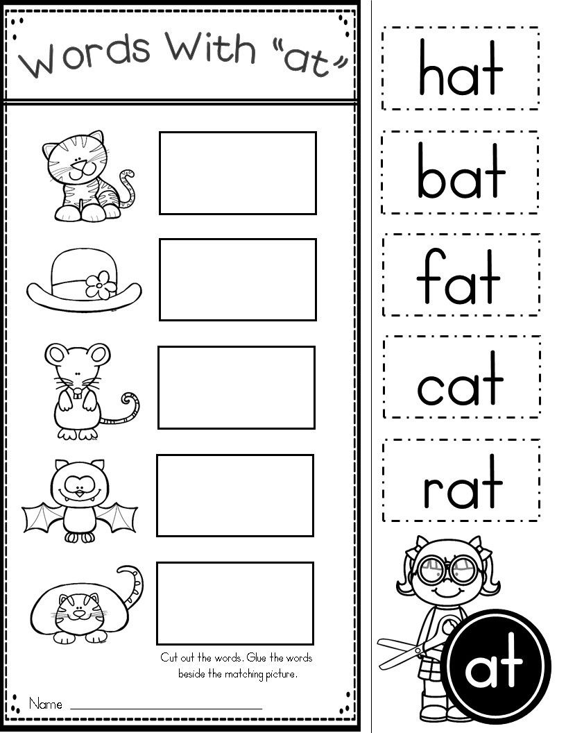 Free Word Family At Practice Printables And Activities | Preschool - Free Printable Word Family Mini Books