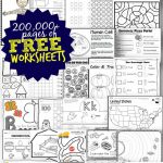 Free Worksheets   200,000+ For Prek 6Th | 123 Homeschool 4 Me   Www Free Printable Worksheets
