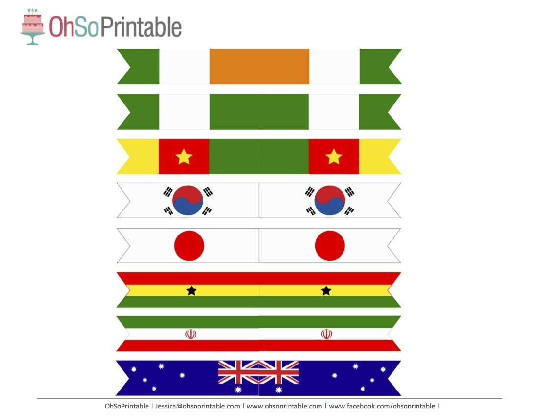 Free World Cup Soccer Printables From Ohsoprintable | Catch My Party - Free Printable Pictures Of Flags Of The World