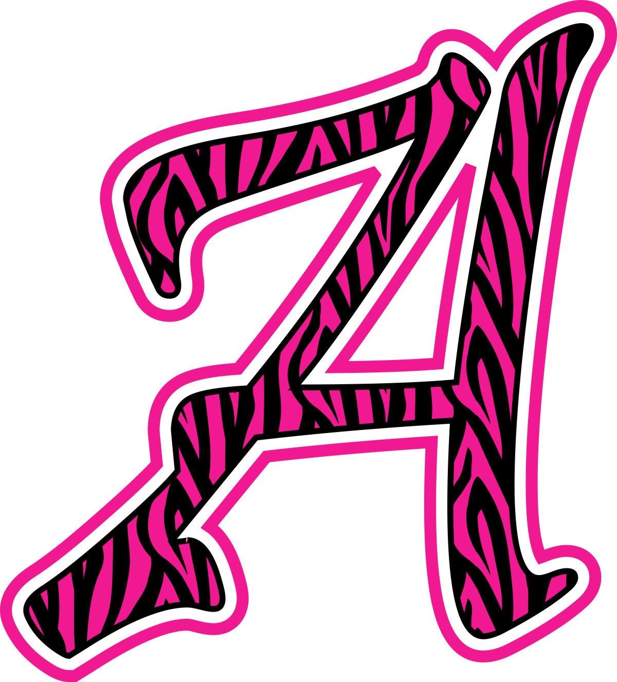 Free Zebra Print Letters Printable, Download Free Clip Art, Free - Free Printable Photo Letter Art
