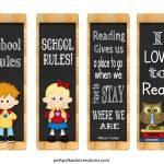 Freebie! Back To School Book Marks   Pink Polka Dot Printables   Free Printable Back To School Bookmarks