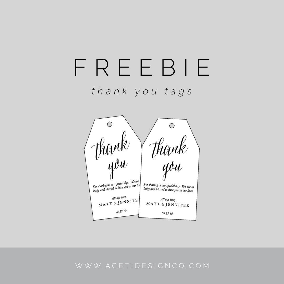 Freebie: Editable Thank You Tags | Gift Tags | Free Printable Gift - Free Printable Favor Tags