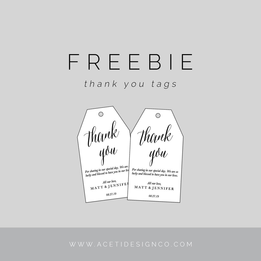 Freebie: Editable Thank You Tags | Gift Tags | Free Printable Gift - Free Printable Thank You Tags Template