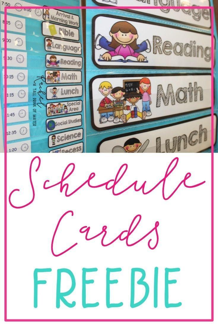 Freebie Schedule Cards | Classroom (When I Go Back :) | Preschool - Free Printable Schedule Cards For Preschool