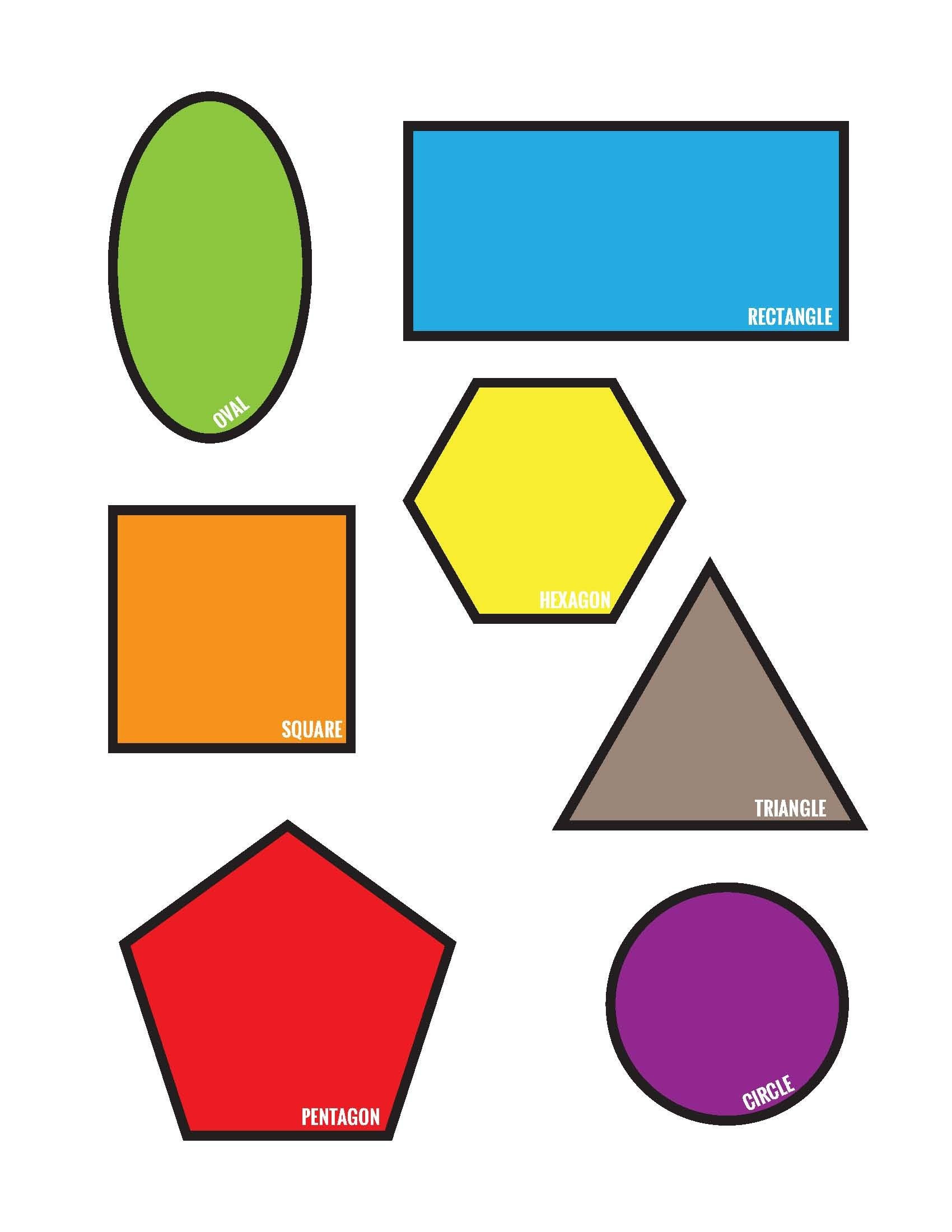 Freebies: Colorful Shapes Matching File Folder Printable Game (Free - Free Printable Math File Folder Games For Preschoolers