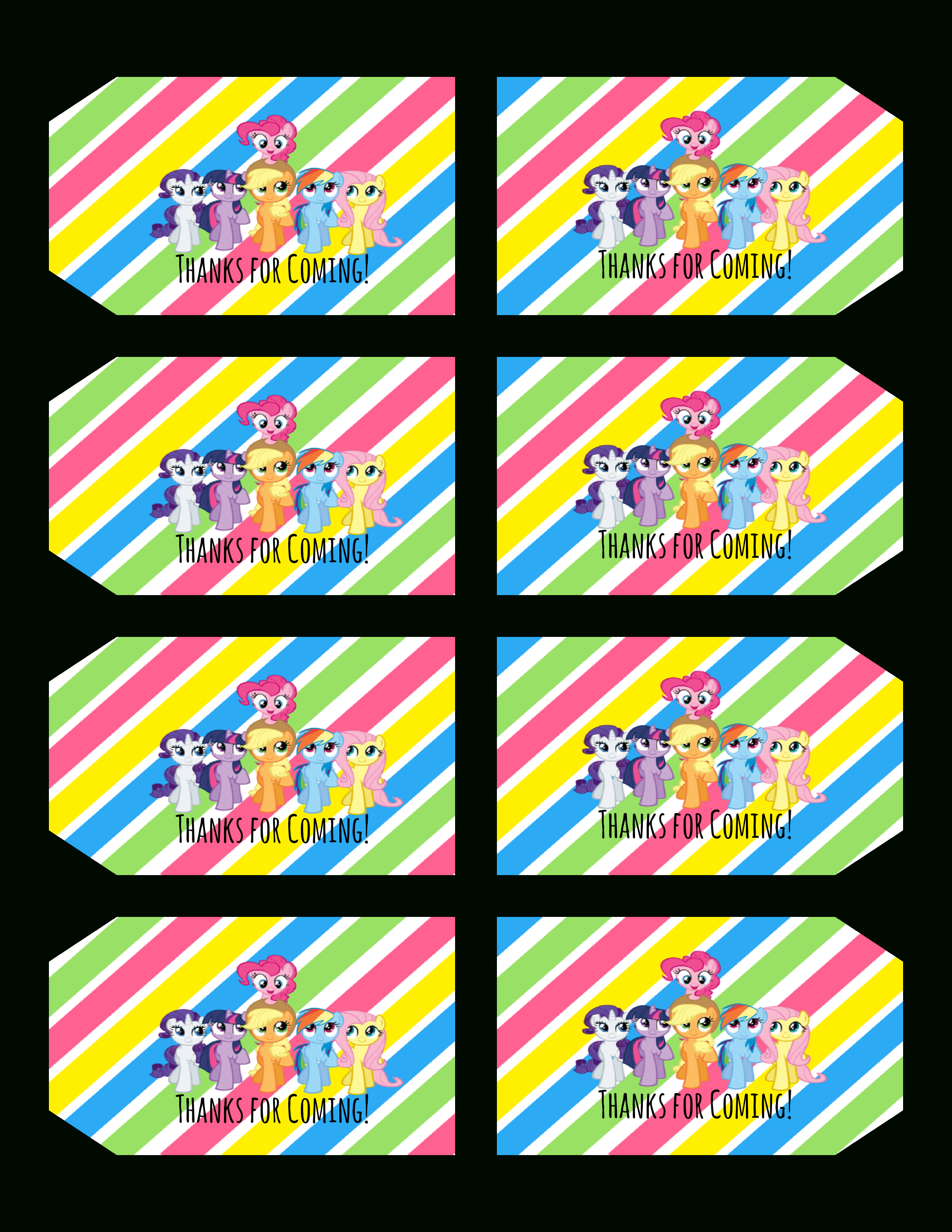 Free+My+Little+Pony+Printables   My Little Pony Birthday In 2019 - Free Printable My Little Pony Cupcake Toppers