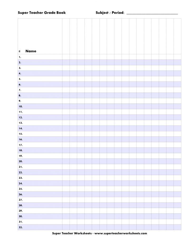 Free Printable Grade Sheet
