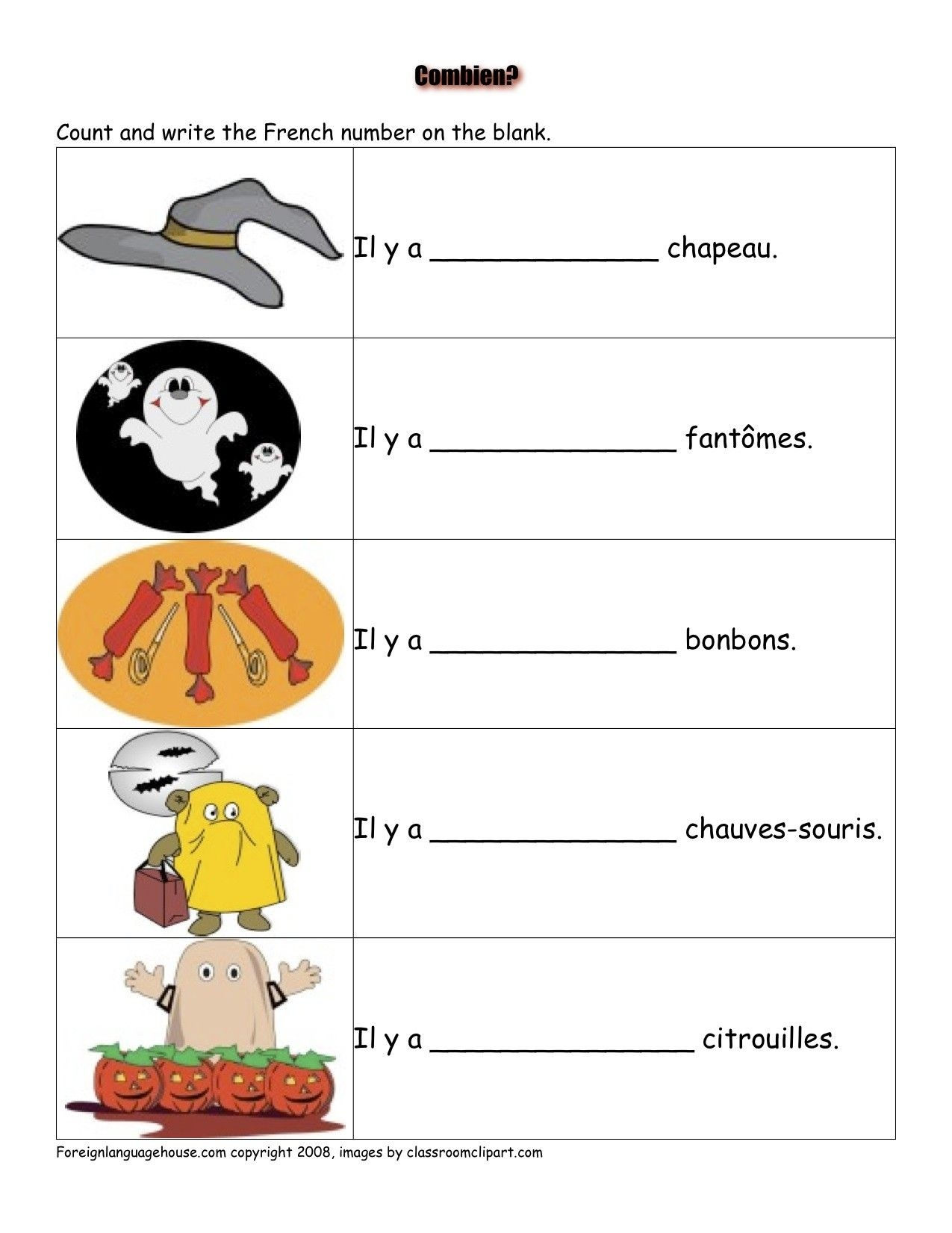 French Worksheets - Halloween | French Activities | French - Free Printable French Halloween Worksheets