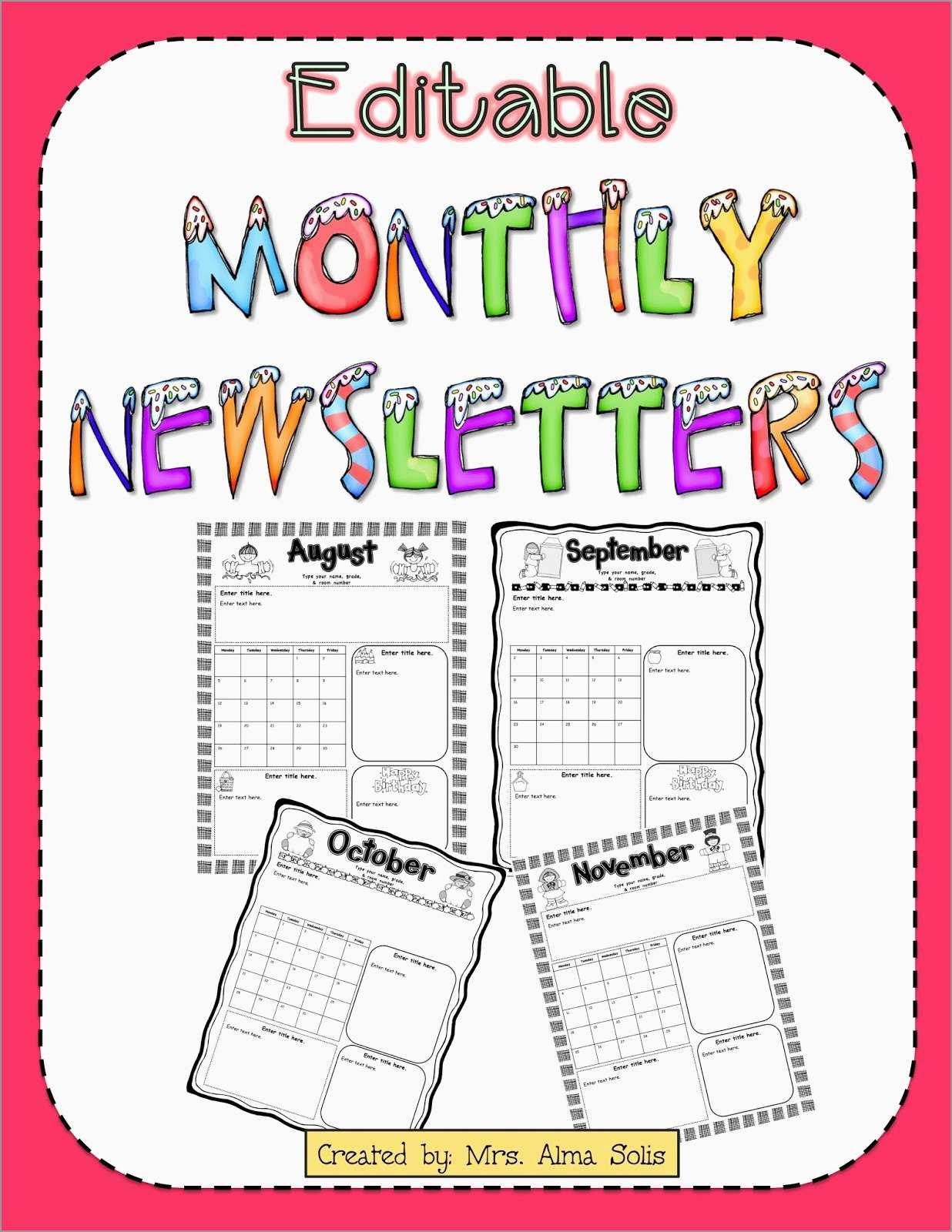 Fresh Free Printable Preschool Newsletter Templates | Best Of Template - Free Printable Preschool Newsletter Templates